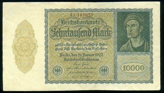 10 000 Marka 1922 - 9474 | antikvariat - detail bankovky