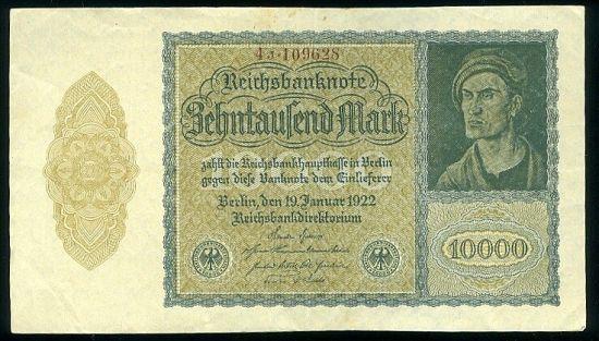 10000 Marka 1922 - 9474   antikvariat - detail bankovky
