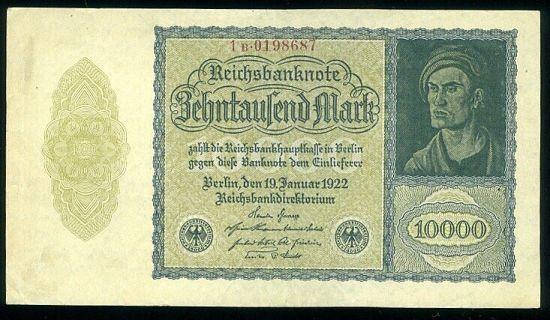 10 000 Marka 1922 - 9475 | antikvariat - detail bankovky