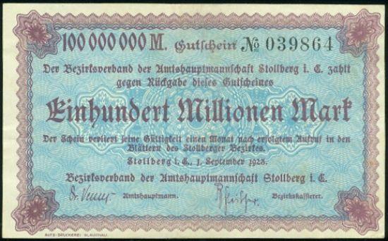 100 Mio Marek - A9256   antikvariat - detail bankovky