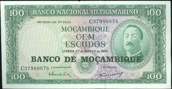 Mosabik  100 Escudos - B8350 | antikvariat - detail bankovky