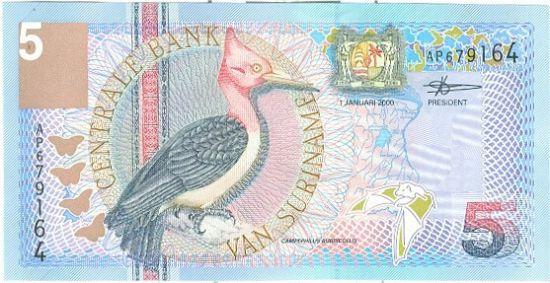 Surinam  5 Gulden - C577 | antikvariat - detail bankovky