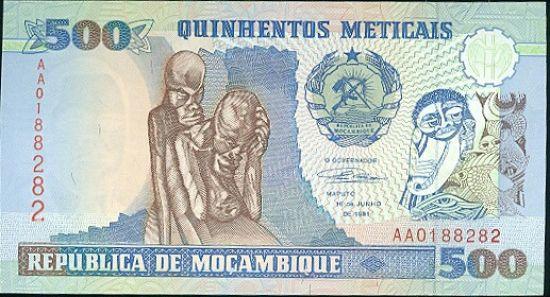 Mosabik  500 Meticais - B8354 | antikvariat - detail bankovky