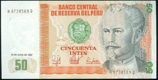 Peru   50 Intis - C560 | antikvariat - detail bankovky