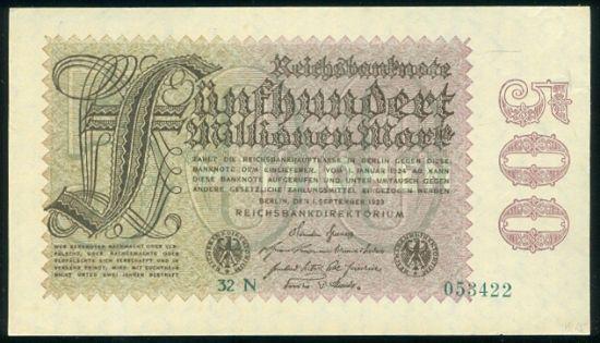 500 Milionu Marek 1923 - 9521 | antikvariat - detail bankovky
