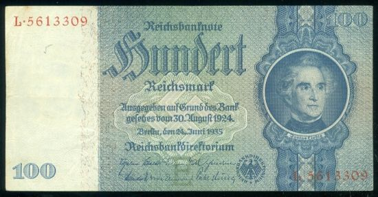 100 Marka 1935 - 9529 | antikvariat - detail bankovky