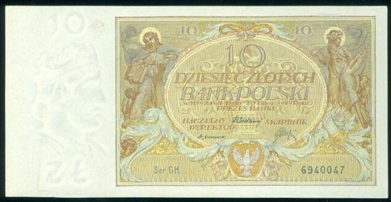 100 Zlotych 1929 - 9537   antikvariat - detail bankovky