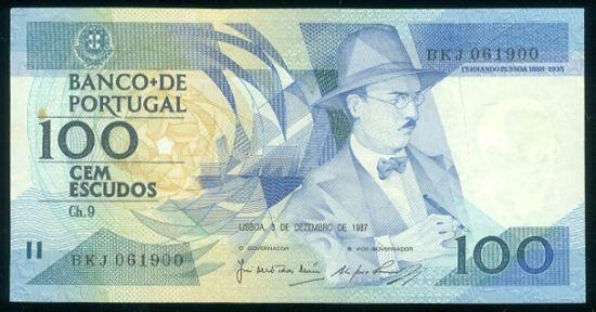 Porugalsko 100 Escudos - 9541 | antikvariat - detail bankovky