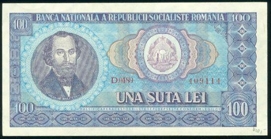 Rumunsko 100 Lei 1966 - 9542 | antikvariat - detail bankovky