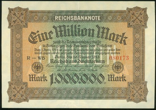 1 Milion Marek - 9583 | antikvariat - detail bankovky