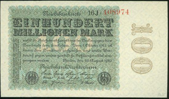 100 Mio Marek - 9584   antikvariat - detail bankovky