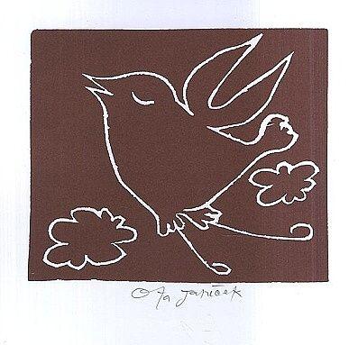 Stastny ptacek - Janecek Ota   antikvariat - detail grafiky