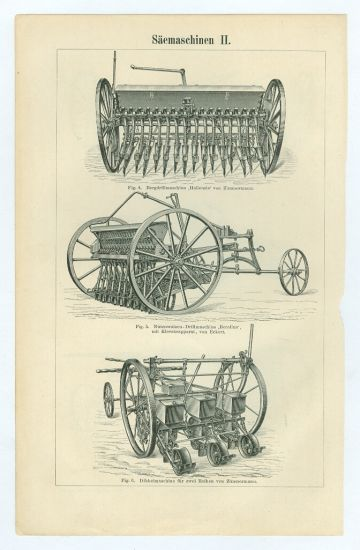 Seci stroje | antikvariat - detail grafiky