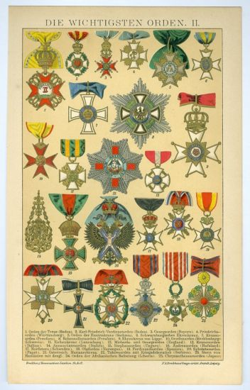Rady a vyznamenani   antikvariat - detail grafiky