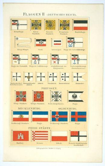 Vlajky  Deutsche Reich | antikvariat - detail grafiky