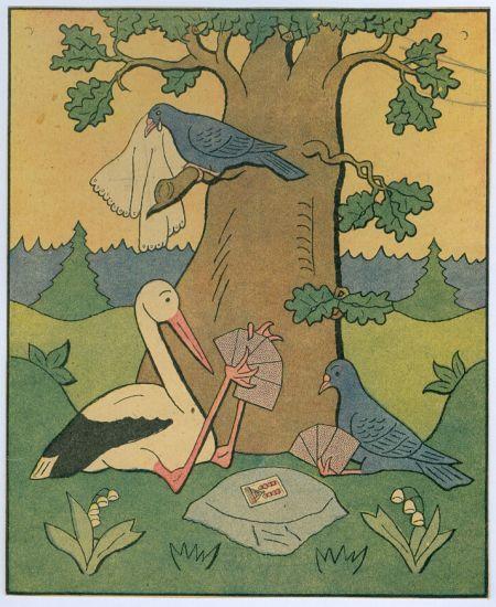 Cap hraje karty s holubem - Lada Josef | antikvariat - detail grafiky