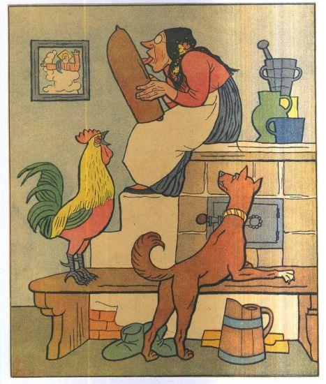 Baba sedi na peci   - Lada Josef | antikvariat - detail grafiky