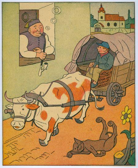 Hostinsky se z okna diva   - Lada Josef | antikvariat - detail grafiky