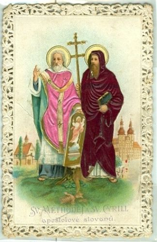 Svaty obrazek  Sv  Methodej a sv  Cyrill apostolove slovanu | antikvariat - detail knihy
