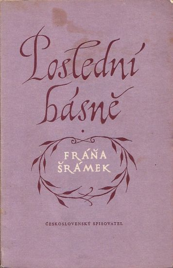 Posledni basne - Sramek Frana | antikvariat - detail knihy