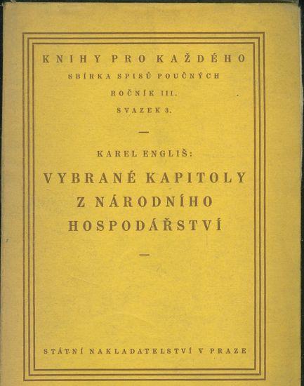 Vybrane kapitoly z narodniho hospodarstvi - Englis Karel   antikvariat - detail knihy