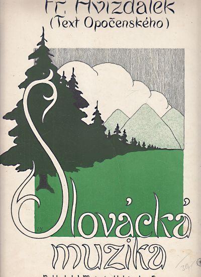 Slovacka muzika - Hvizdalek Frantisek | antikvariat - detail knihy