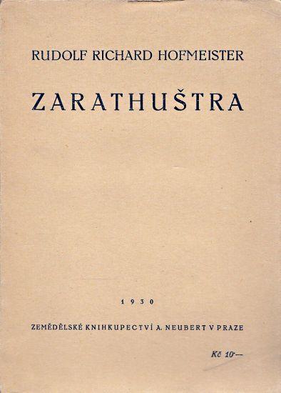 Zarathustra - Hofmeister Rudolf Richard   antikvariat - detail knihy