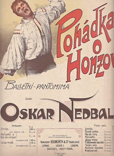 Pohadka o Honzovi  Baletni pantomima - Nedbal Oskar | antikvariat - detail knihy