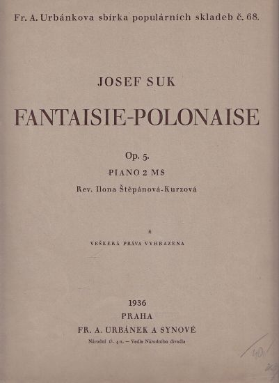 FantaisiePolonaise - Suk Josef | antikvariat - detail knihy