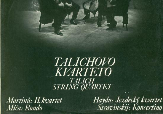 Martinu  II kvartet Mica  Rondo Haydn  Jezdecky kvartet Stravinskij  Koncertino - Talichovo kvarteto   antikvariat - detail knihy
