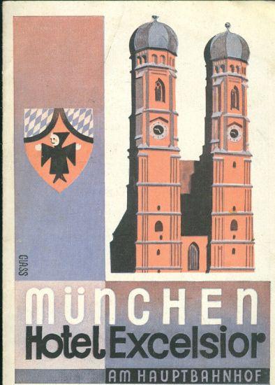 Hotel Excelsior MUnchen  prospekt hotelu   antikvariat - detail knihy