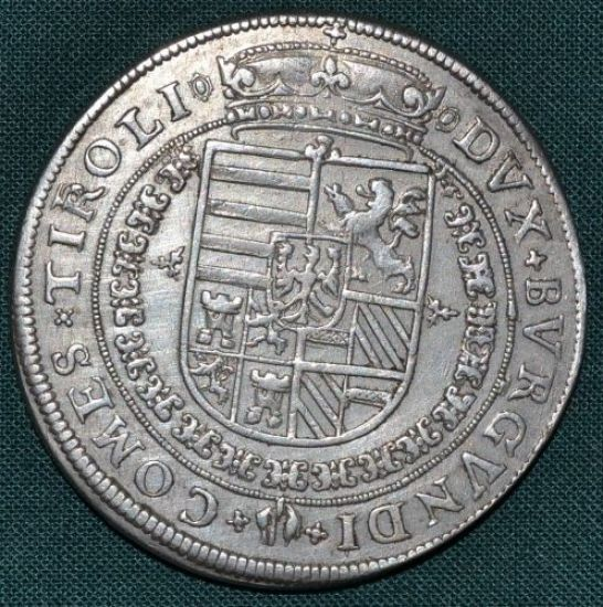 Tolar bl mincovna Hall Tyrolsko Arciv Ferdinand - B8719   antikvariat - detail numismatiky