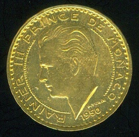 Monako  50 Frank 1950 - C709 | antikvariat - detail numismatiky