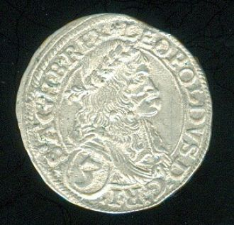 Rakousko Leopold I  1657  1705  3 Krejcar 1672 - C980   antikvariat - detail numismatiky