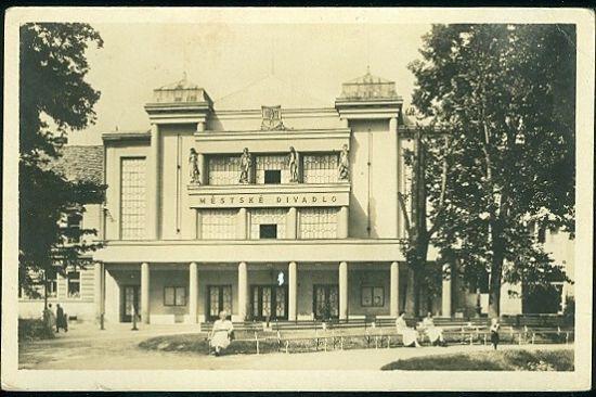 Pisek  Mestske divadlo | antikvariat - detail pohlednice
