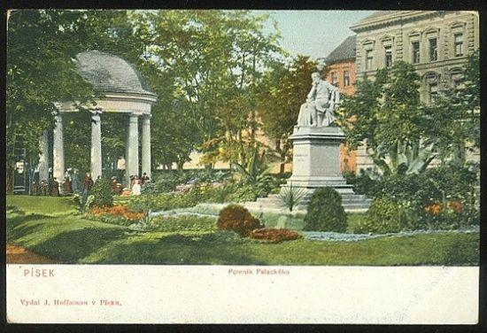 Pisek  Pomnik Palackeho | antikvariat - detail pohlednice