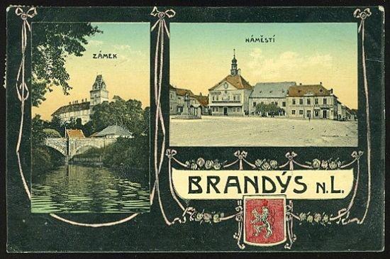 Brandys n L   antikvariat - detail pohlednice