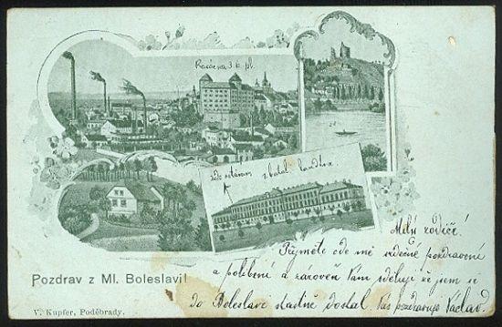 Pozdrav z Ml Boleslavi | antikvariat - detail pohlednice