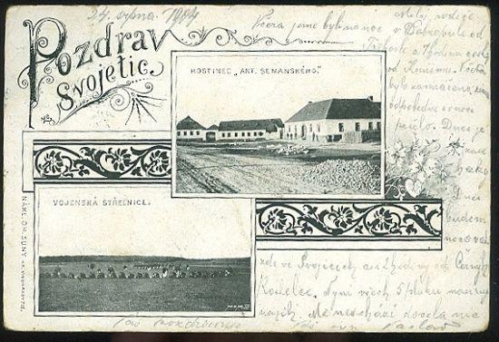 Pozdrav ze Svojetic   antikvariat - detail pohlednice