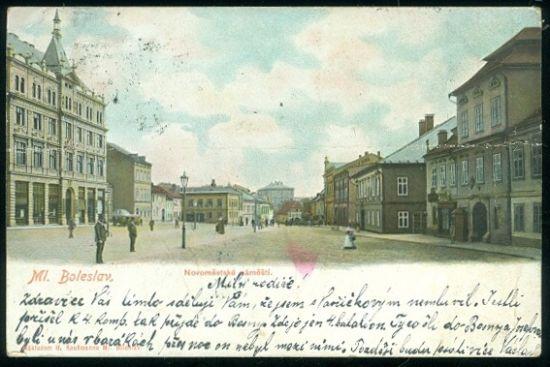 Mlada Boleslav  Novomestske namesti | antikvariat - detail pohlednice