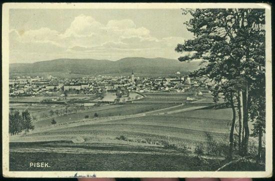 Pisek | antikvariat - detail pohlednice