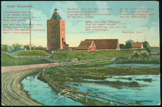 Insel Neuwerk   antikvariat - detail pohlednice