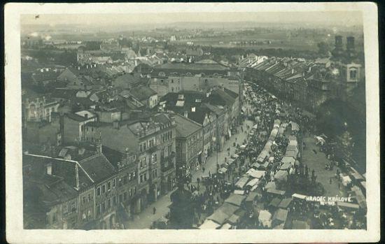 Hradec Kralove | antikvariat - detail pohlednice
