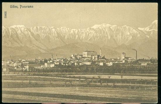 Udine Panorama | antikvariat - detail pohlednice