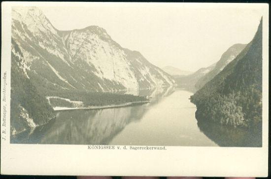 Konigsee v d Sagereckerwand | antikvariat - detail pohlednice