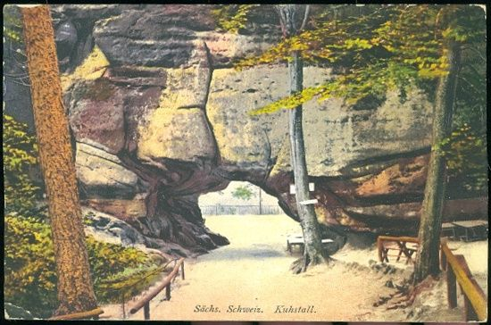 Sachs Schweiz Kuhstall | antikvariat - detail pohlednice