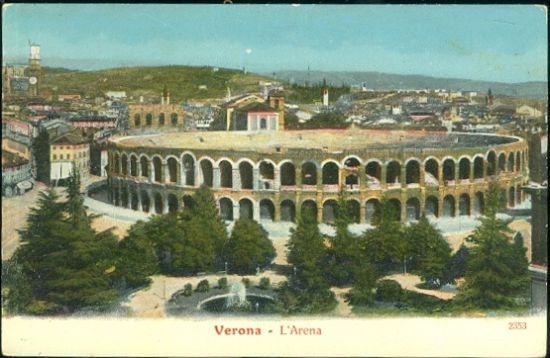 Verona | antikvariat - detail pohlednice