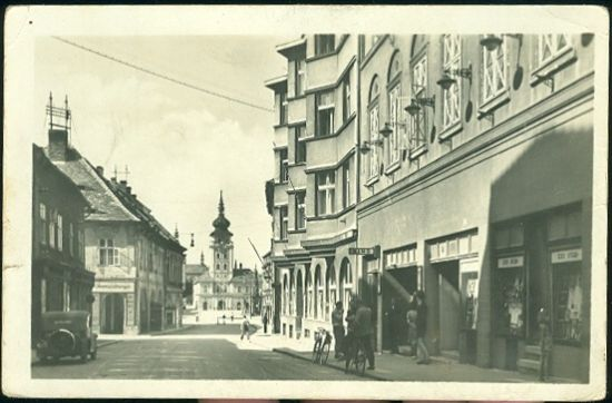 Zatec   antikvariat - detail pohlednice