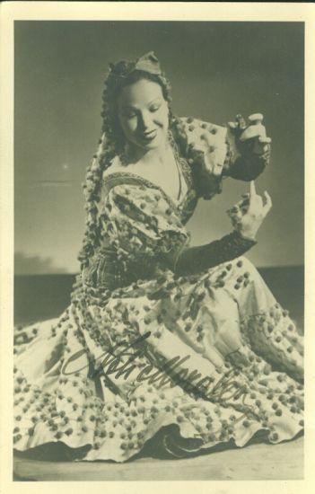 Tanecnice | antikvariat - detail pohlednice