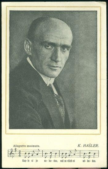 Karel Hasler | antikvariat - detail pohlednice